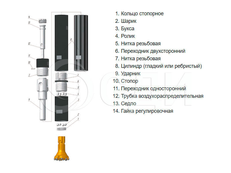 Пневмоударник П-110