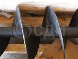 Шнек буровой 350 мм, 1,5 м.